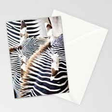 Abstract Zebras Stationery Cards