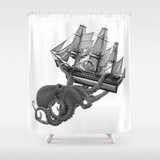 Release the Kraken Shower Curtain