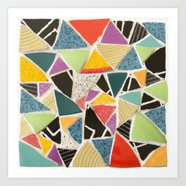 Triangle Treat Mosaic Art Print