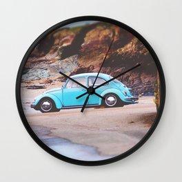 Vintage Blue Beetle Wall Clock