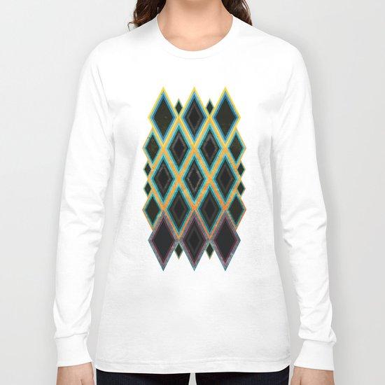 Diamond pattern Long Sleeve T-shirt