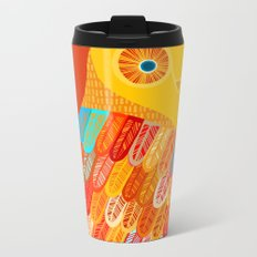 Terracotta Owl Metal Travel Mug
