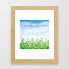 Kawartha Forest Framed Art Print