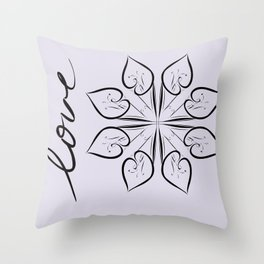 floral flowers text words love Throw Pillow