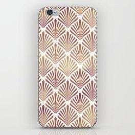 Rose-gold geometric art-deco pattern iPhone Skin