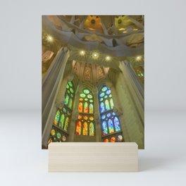 Stained Glass Sagrada Familia Mini Art Print