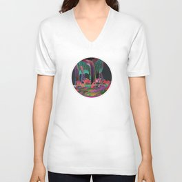 Reincarnation - Neon Waterfalls Unisex V-Neck