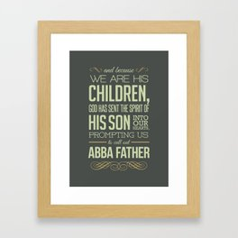 Abba Father Framed Art Print