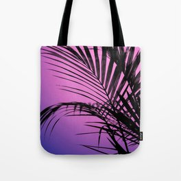 Palm leaves paradise with gradient Tote Bag