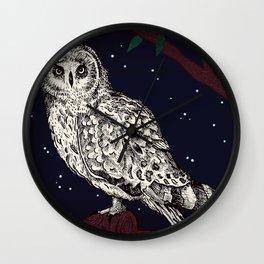 Owl of the Night Wall Clock