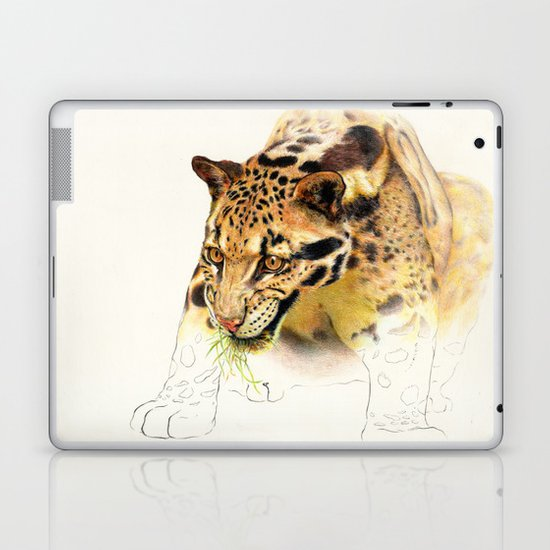 Clouded Panther Laptop & iPad Skin