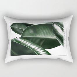 Big leaves white Rectangular Pillow