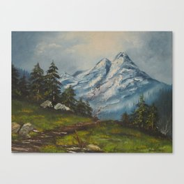 Landscape Forrest and Mountains Canvas Print