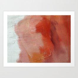 Desert Journey [1]: a textured, abstract piece in pinks, reds, and white by Alyssa Hamilton Art Kunstdrucke