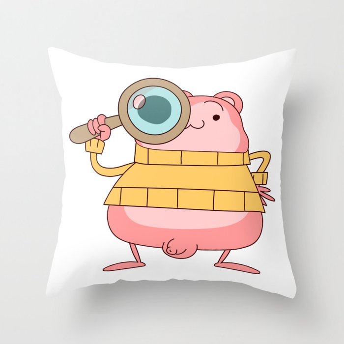 Peepoodo is watching you Throw Pillow