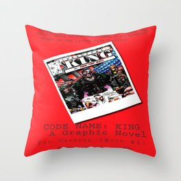 """Code Name: King""  - ALTERNATE Comic Book Promo Poster  Throw Pillow"