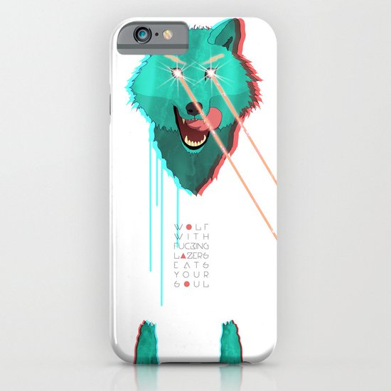 Wolf With F**king lasers iPhone & iPod Case