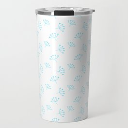 Turquoise Queen Anne's Lace pattern Travel Mug