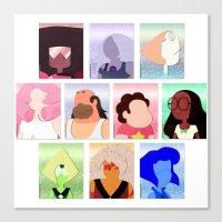 steven universe Canvas Prints featuring Steven Universe by Moonblossom