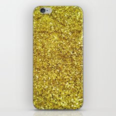 GOLD GLITTER iPhone & iPod Skin