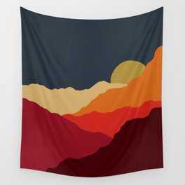 Sunset on the Mountains Wall Tapestry
