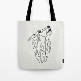 Geometric Howling Wild Wolf Tote Bag