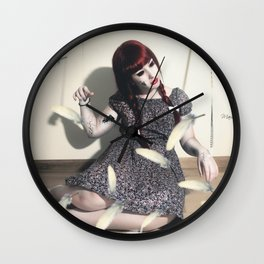 """Peso pluma"" Wall Clock"