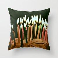 happy birthday Throw Pillows featuring Happy Birthday by Thomas Eppolito