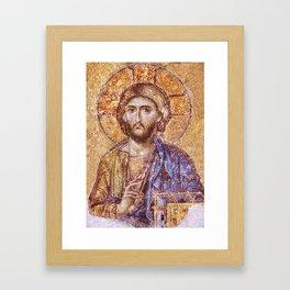 Christ Pantocrator Mosaic Icon Framed Art Print