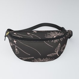 Hand drawn abstract flat graphic icon illustration sketch seamless esoteric pattern Fanny Pack