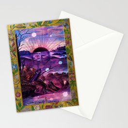 Black Sun Alchemy, Antique Alchemy Illustration Collage Stationery Cards