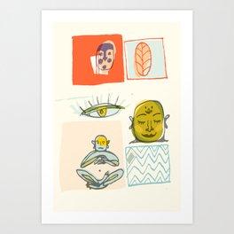 Ungry Budda Art Print