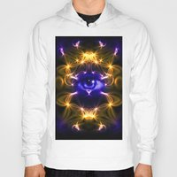 all seeing eye Hoodies featuring All seeing eye by Cozmic Photos