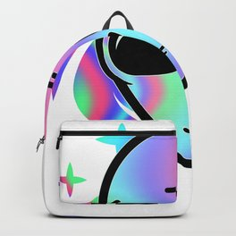 Vaporwave Alien Head Gift Psychedelic Hippie Alien Design graphic Backpack