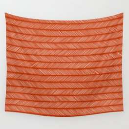 Rust Brown Small Herringbone Wall Tapestry