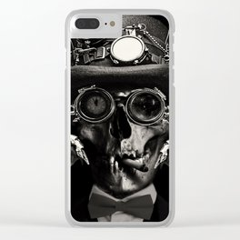 'Steampunk Deceased' Clear iPhone Case