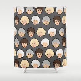 Golden Girls Grey Pop Art Shower Curtain