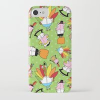 thanksgiving iPhone & iPod Cases featuring Thanksgiving Crew by Pig & Pumpkin