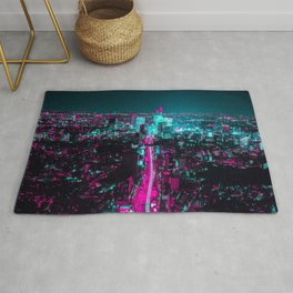 future city vaporwave Rug