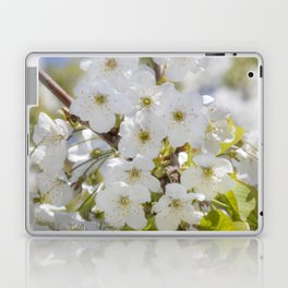 Tiny White Flowers Laptop & iPad Skin