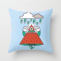 illuminati Throw Pillows featuring Illuminati by Tshirtbaba