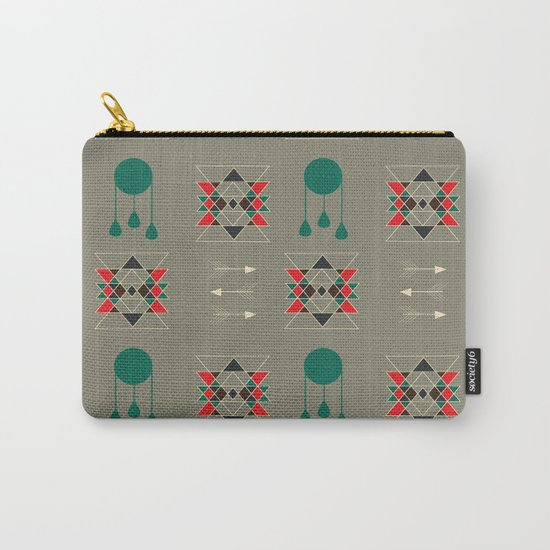 dream-catcher gray Carry-All Pouch