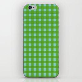 Buffalo Check Plaid in Lime Green and Sea Foam iPhone Skin