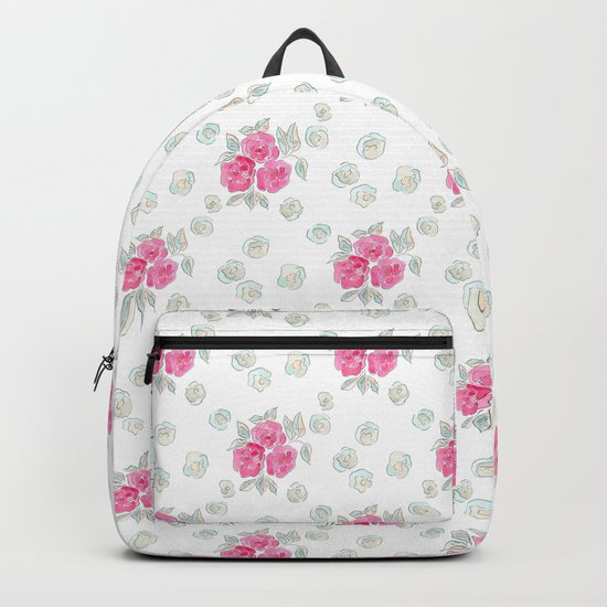Watercolor. Rose .10 Backpack