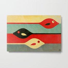 Three Fish in My Mind Metal Print