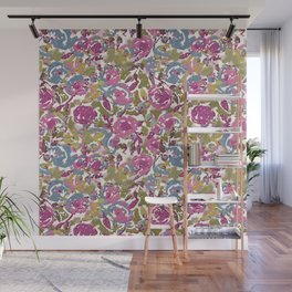 Painted Abstract Florals Wall Mural