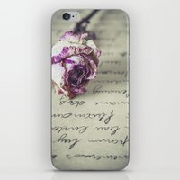 letter iPhone & iPod Skins featuring Love letter by Maria Heyens