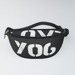 Love you typography black pattern Fanny Pack
