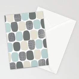 Wonky Ovals in Teal Stationery Cards