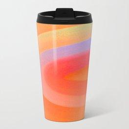 Sorbet Color Swirl Metal Travel Mug